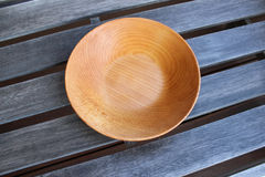 Empty wooden plates Royalty Free Stock Image