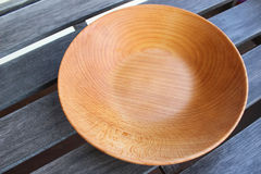 Empty wooden plates Royalty Free Stock Photography