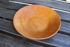 Empty wooden plates Stock Photo