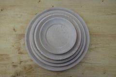 Empty wooden plates. Set of empty wooden plates Stock Photo