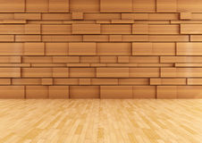 Empty wooden room Royalty Free Stock Photography