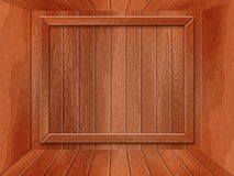 Empty wooden room Stock Photography