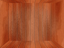 Empty wooden room Stock Photos