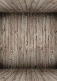 Empty wooden room background Royalty Free Stock Photos