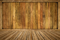 Empty wooden room Stock Images
