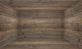 Empty Wooden Room Stock Photo