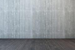 Empty wooden room. 3d rendering Stock Image