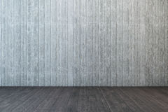 Empty wooden room Stock Image