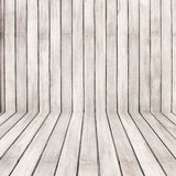 Empty wooden room,interior background,perspective view Stock Photo