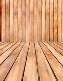 Empty wooden room,interior background,perspective view Royalty Free Stock Photos