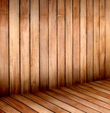 Empty wooden room,interior background,perspective view Royalty Free Stock Image