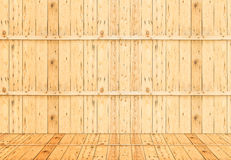 Empty wooden room interior ,Template mock up for display of prod Royalty Free Stock Photos
