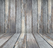 Empty wooden room in perspective, vintage, grunge background, te Stock Photography