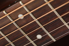 Empty wooden rosewood fingerboard Royalty Free Stock Image