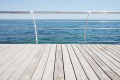 Empty wooden seafront Royalty Free Stock Images