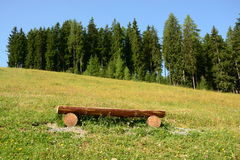 Empty wooden seat Royalty Free Stock Photography