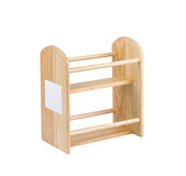 Empty wooden shelf Royalty Free Stock Photos