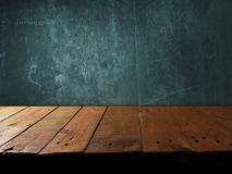 Empty wooden shelf. Old empty wooden shelf in wall sample your object Royalty Free Stock Photo