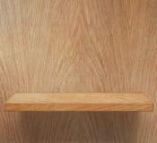 Empty wooden shelf Stock Images