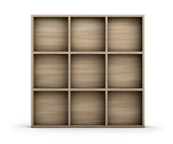 Empty Wooden Shelf Royalty Free Stock Image