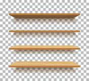 Empty wooden shelf isolated background Stock Photo