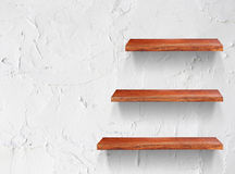 Empty wooden shelf Stock Photography