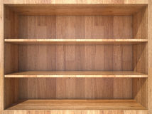 Empty wooden Shelf Stock Image