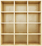 Empty wooden shelves. 3d render image. Stock Image
