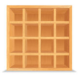 Empty Wooden Shelves Isolated on White Wall royalty free illustration