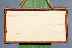 Empty wooden sign Royalty Free Stock Photo