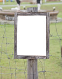 Empty wooden sign Stock Images