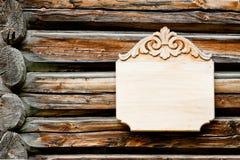 Empty wooden signboard Stock Photo