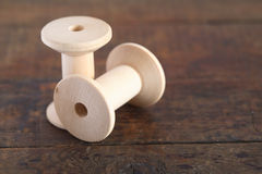 Empty Wooden Spools Royalty Free Stock Photos