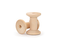 Empty Wooden Spools Royalty Free Stock Photo