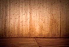 Empty wooden stage interior background Royalty Free Stock Image
