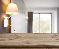 Free Empty Wooden Table On Defocused Simple Hotel Room Interior Background Royalty Free Stock Photos - 72938198