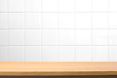 Empty wooden table royalty free stock photo