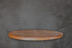 Empty wooden table over vintage concrete background Royalty Free Stock Photos