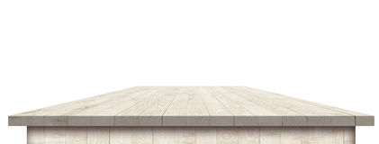 Empty wooden table perspective with clipping mask. For product placement or montage with focus to table. Wooden board surface Stock Image