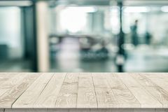 Empty wooden table perspective for product Royalty Free Stock Images