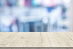 Empty wooden table perspective for product Stock Image