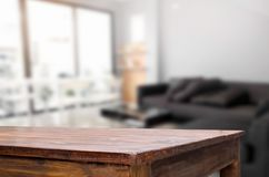 Empty wooden table and room interior decoration background, prod. Uct montage display, window background Stock Photography
