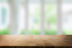 Empty wooden table and room interior decoration background, prod. Uct montage display,window background Stock Photos