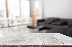 Empty wooden table and room interior decoration background, prod. Uct montage display, window background Stock Images
