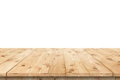 Empty wooden table in a sun for product placement or montage Royalty Free Stock Images
