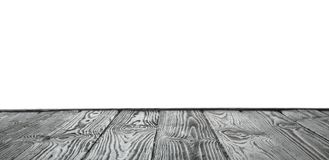 Empty wooden table surface on white. Mockup for design. Empty wooden table surface on white background. Mockup for design royalty free stock images