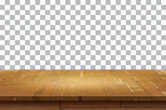 Empty wooden table top  background.Old vintage shelf tex Stock Image