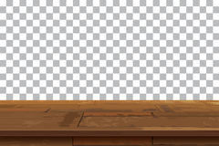 Empty wooden table top  background.Old vintage shelf tex Royalty Free Stock Photos