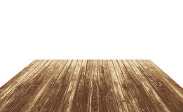 Empty wooden table top Stock Images