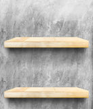 Empty Wooden Table top and shelf at concrete wall,Template mock Royalty Free Stock Photography